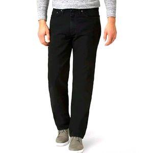 Wrangler Vintage Relaxed Fit Jeans Black Denim 42